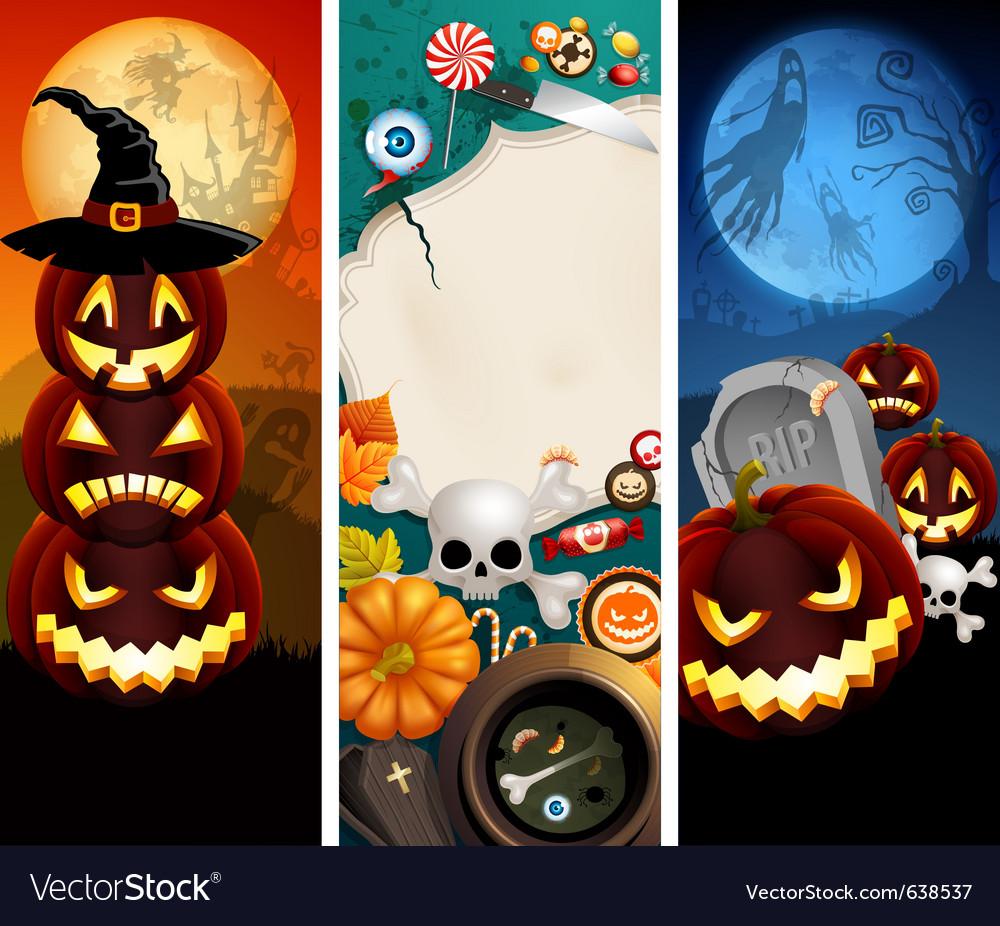 Halloween banners vector | Price: 5 Credit (USD $5)