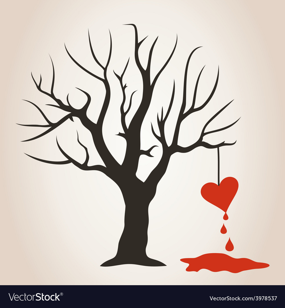 Heart on a tree vector | Price: 1 Credit (USD $1)