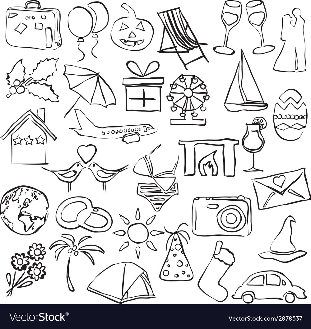 Holiday and events sketch images vector | Price: 1 Credit (USD $1)
