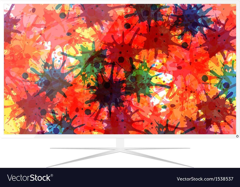 Led television vector | Price: 1 Credit (USD $1)