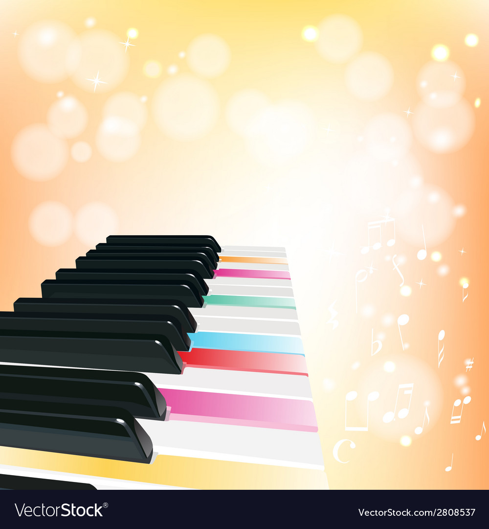 Piano musical background with sparkles vector | Price: 1 Credit (USD $1)