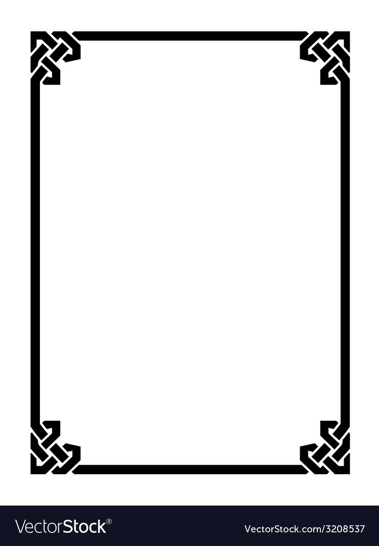 Roman style black ornamental decorative frame vector | Price: 1 Credit (USD $1)