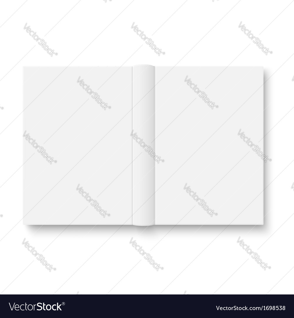 Blank opened book template with soft shadows vector | Price: 1 Credit (USD $1)