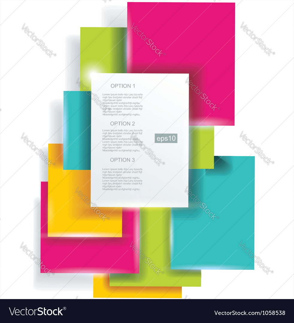 Blank square background for your text - realistic vector | Price: 1 Credit (USD $1)