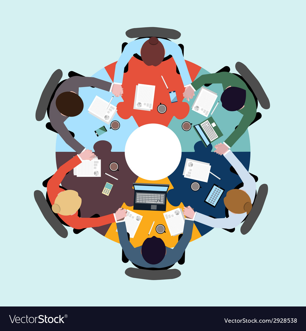 Business teamwork concept vector | Price: 1 Credit (USD $1)