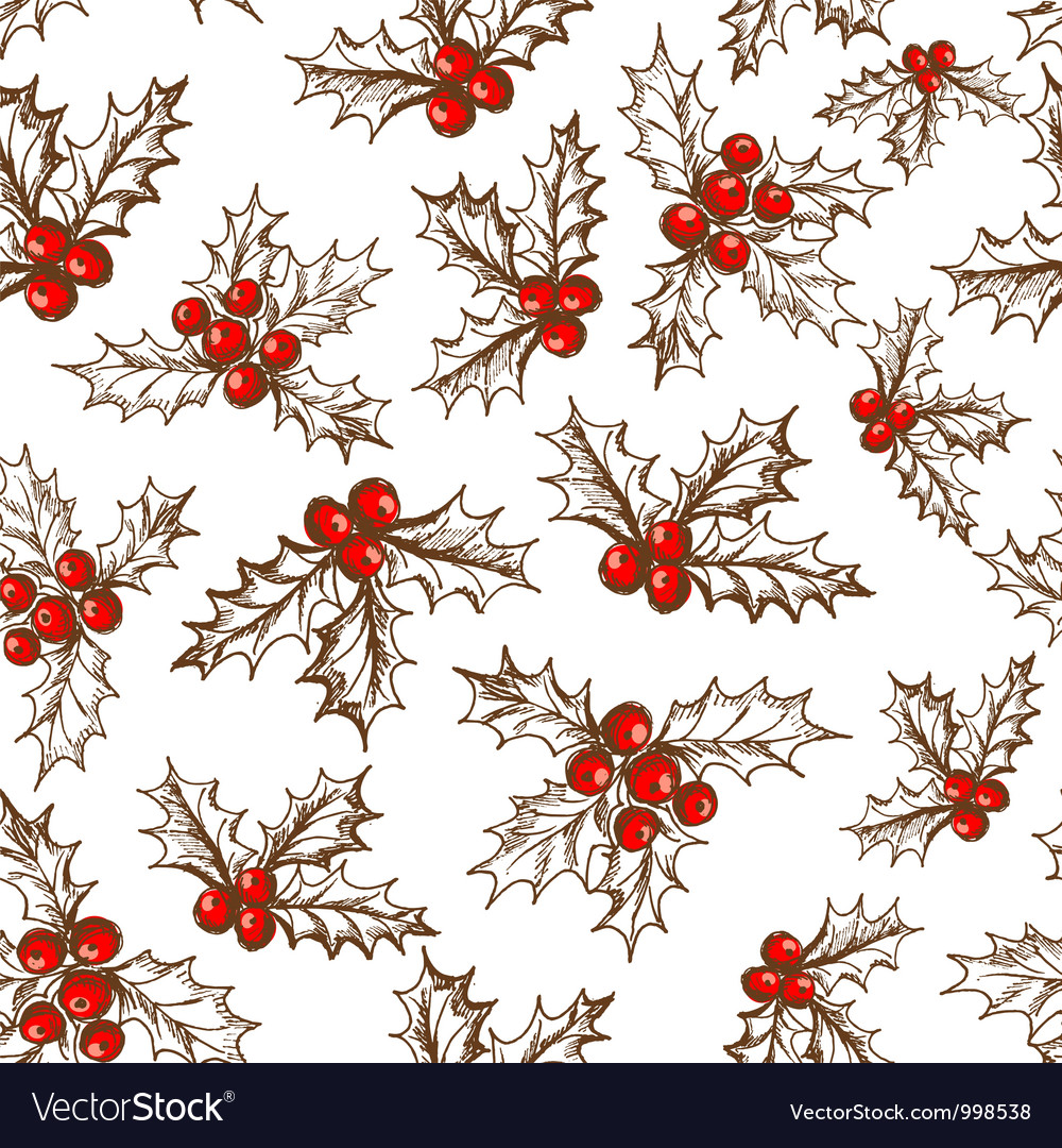 Holly berry vector | Price: 1 Credit (USD $1)