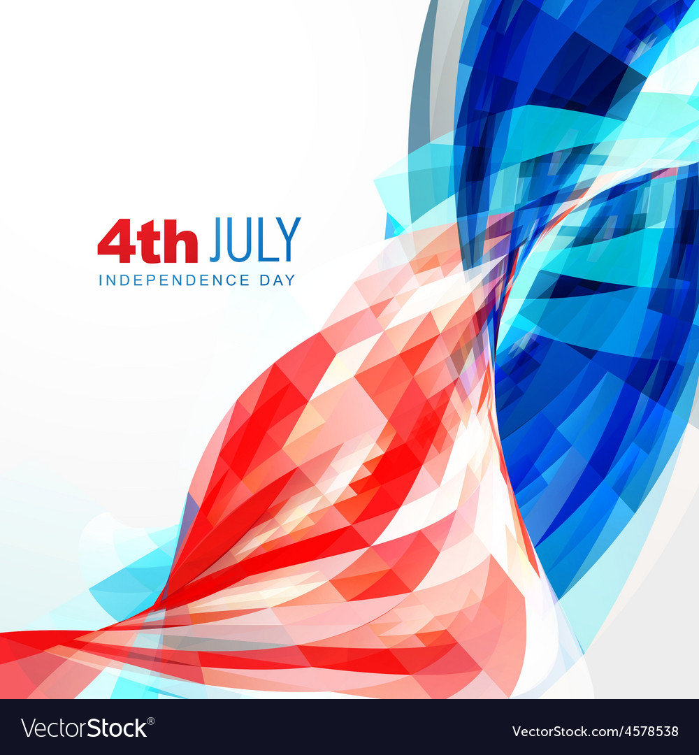 Independence day of america vector | Price: 1 Credit (USD $1)