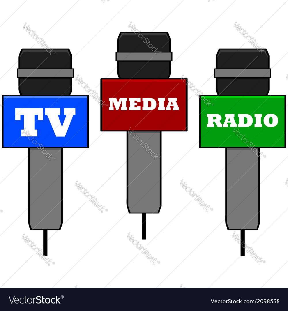 Media microphones vector | Price: 1 Credit (USD $1)