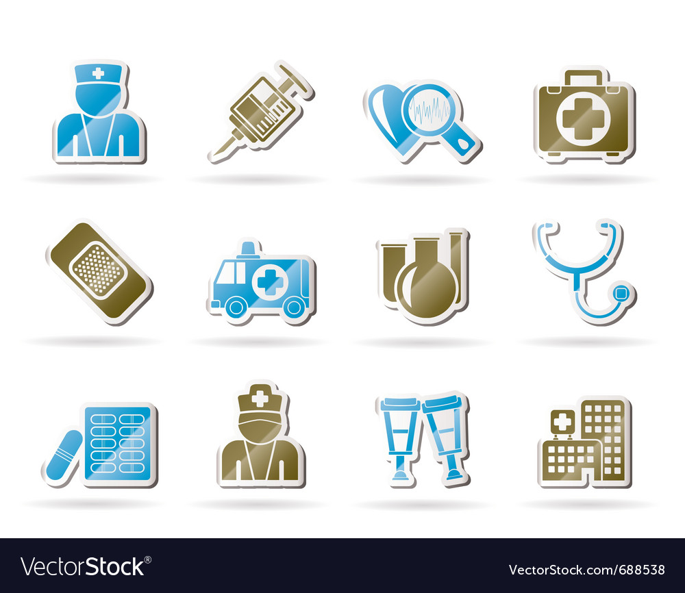 Medicine and healthcare icons vector | Price: 1 Credit (USD $1)