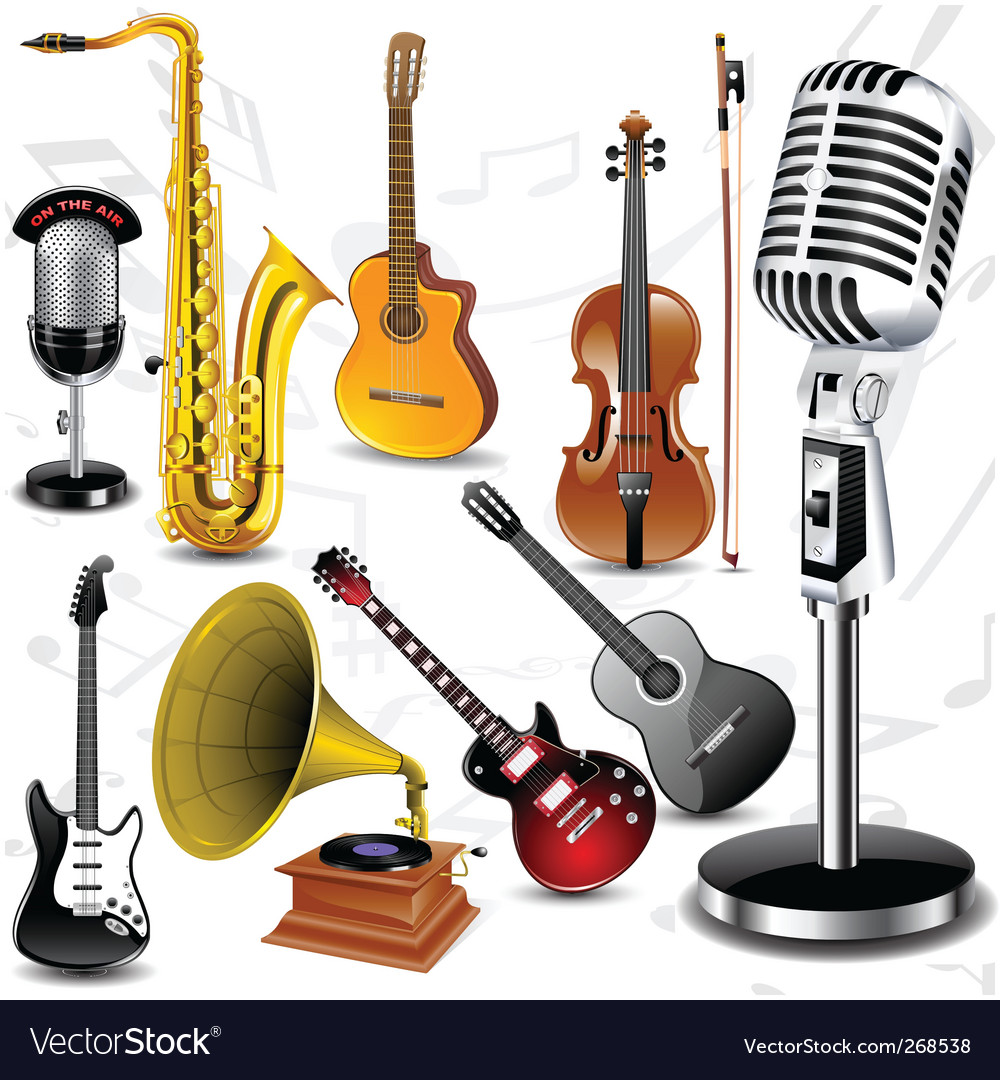 Musical instruments vector | Price: 3 Credit (USD $3)