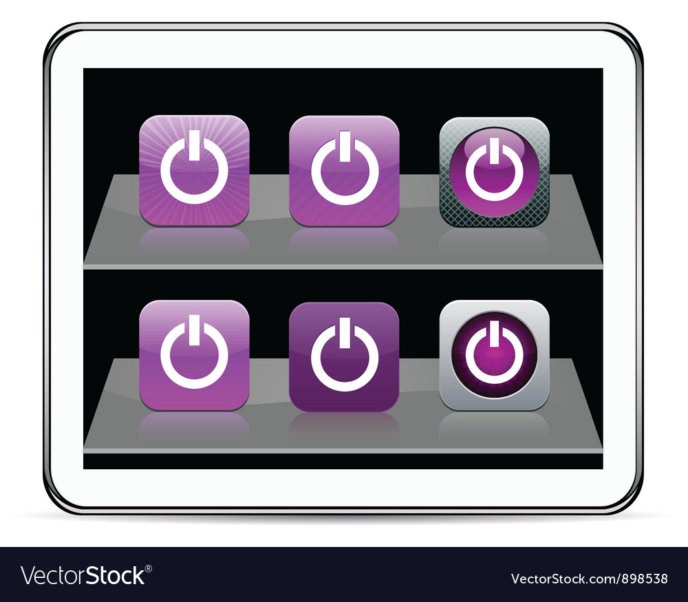 Power purple app icons vector | Price: 1 Credit (USD $1)