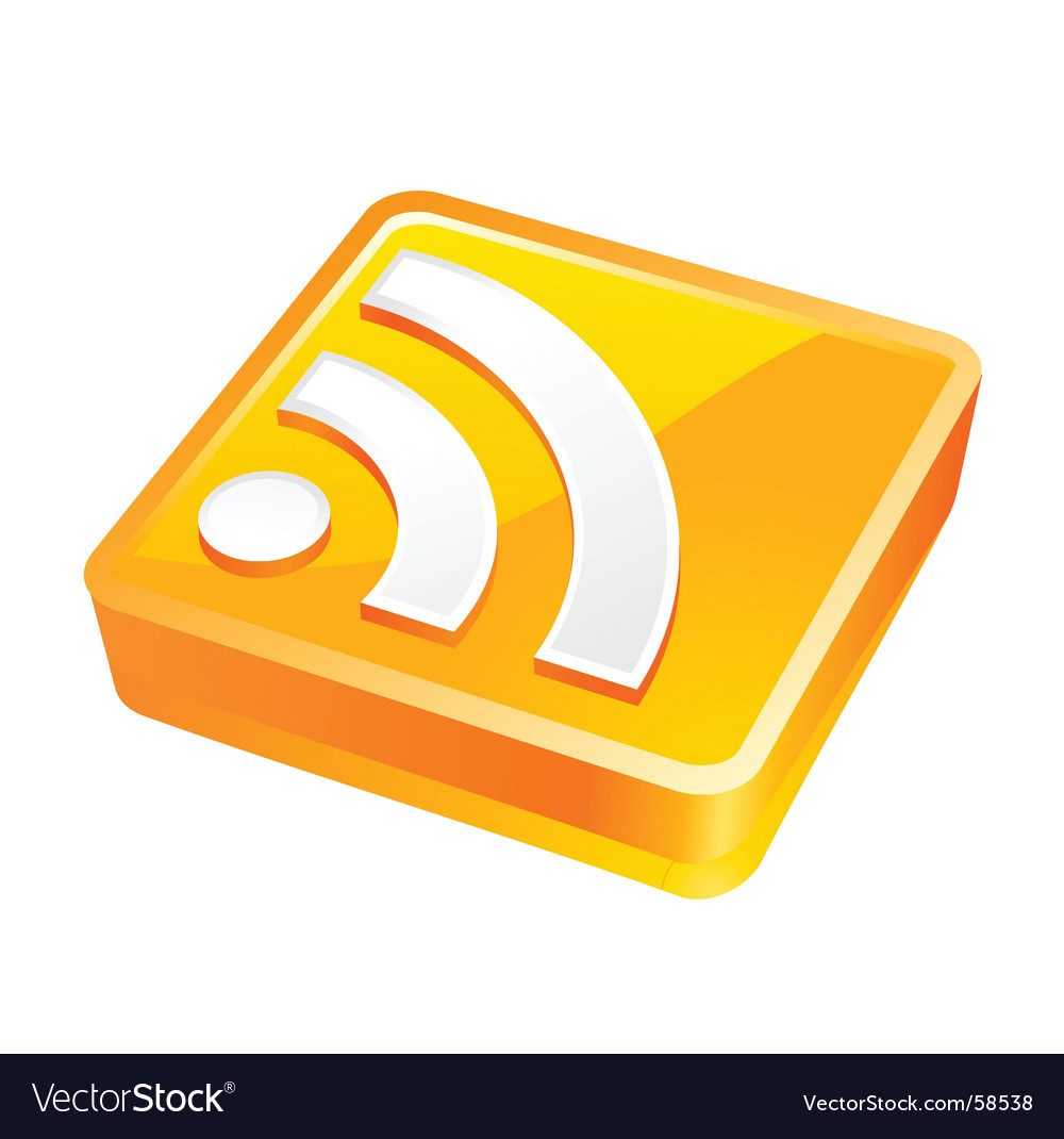 Rss 3d white vector | Price: 1 Credit (USD $1)