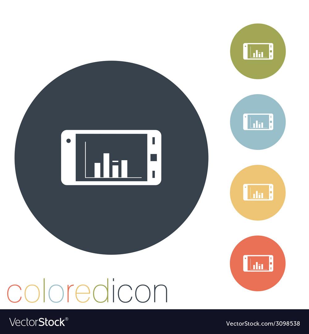 Smartphone with diagram vector | Price: 1 Credit (USD $1)
