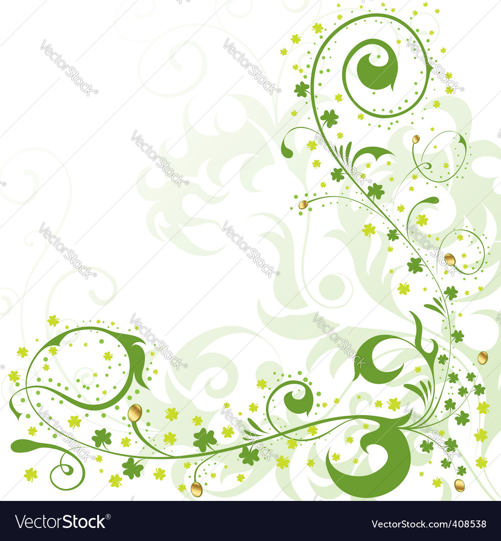 St patrick's day border vector | Price: 1 Credit (USD $1)