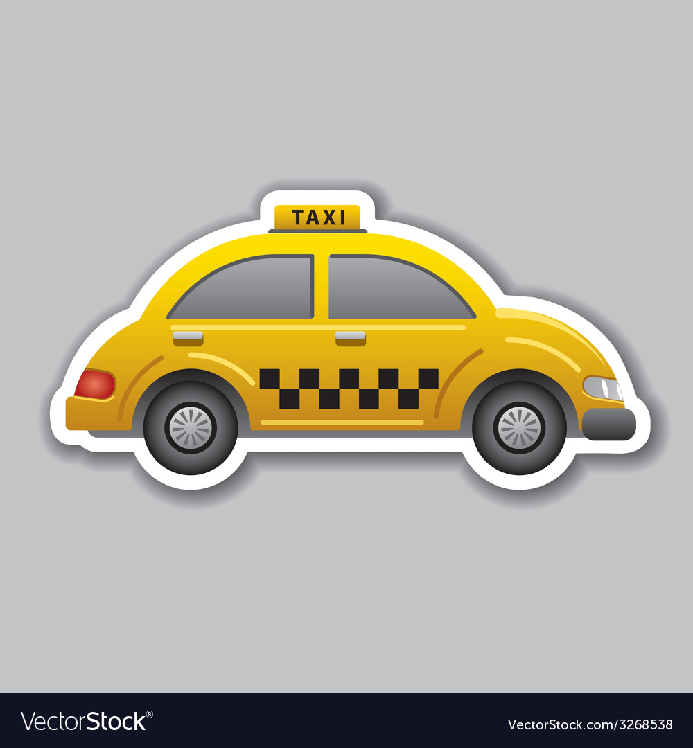 Taxi sticker vector | Price: 1 Credit (USD $1)