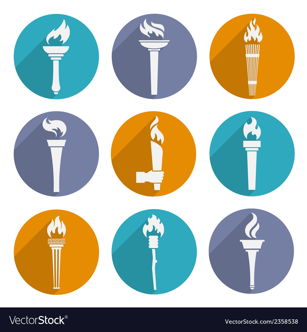 Torch icons set vector | Price: 1 Credit (USD $1)