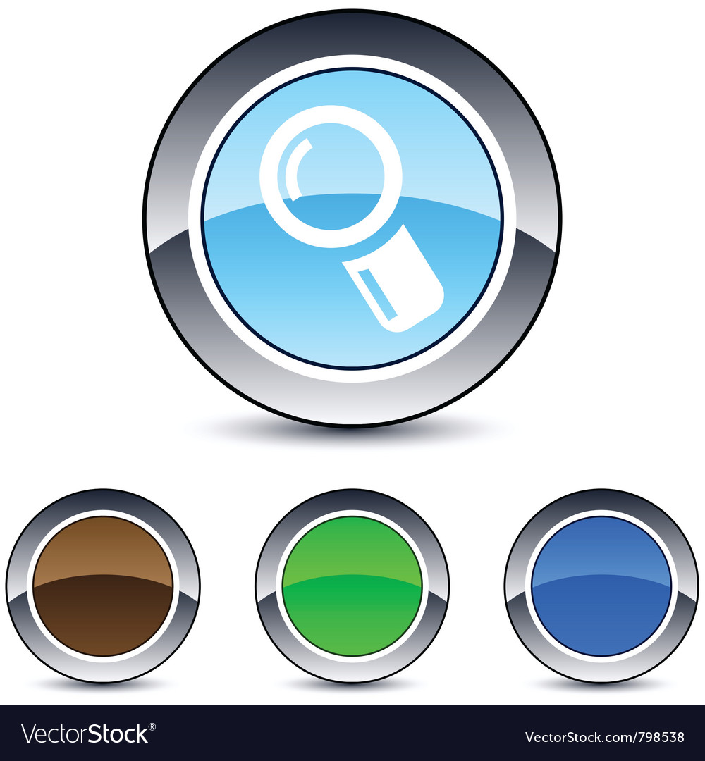 Zoom round button vector | Price: 1 Credit (USD $1)