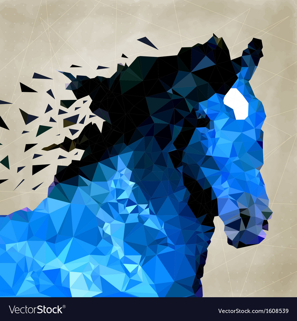 Abstract horse of geometric shape symbol vector | Price: 1 Credit (USD $1)