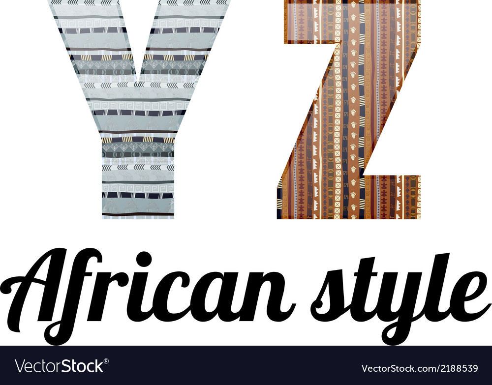 Alphabet african style vector | Price: 1 Credit (USD $1)