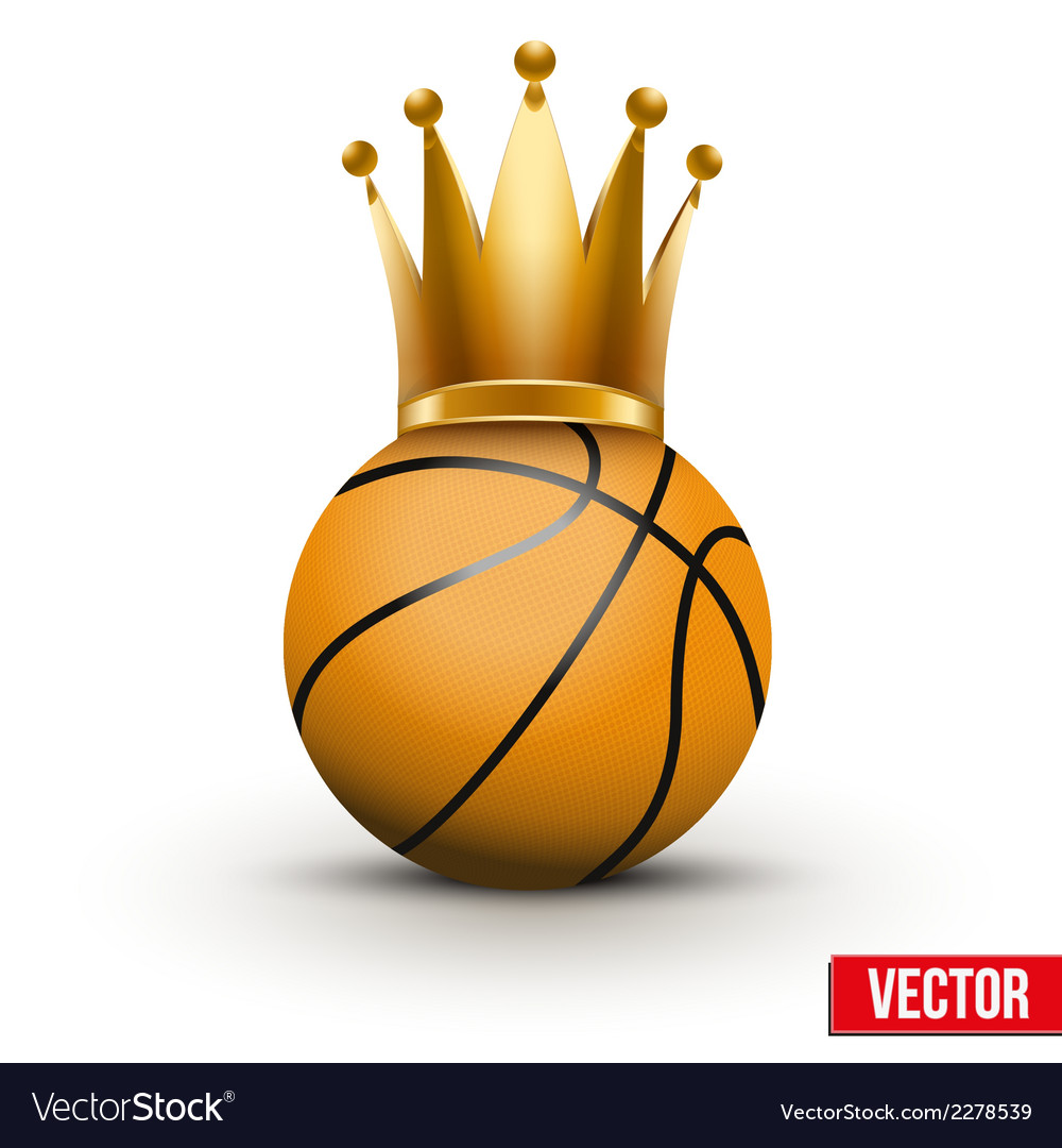 Basketball ball with royal crown of queen vector | Price: 1 Credit (USD $1)