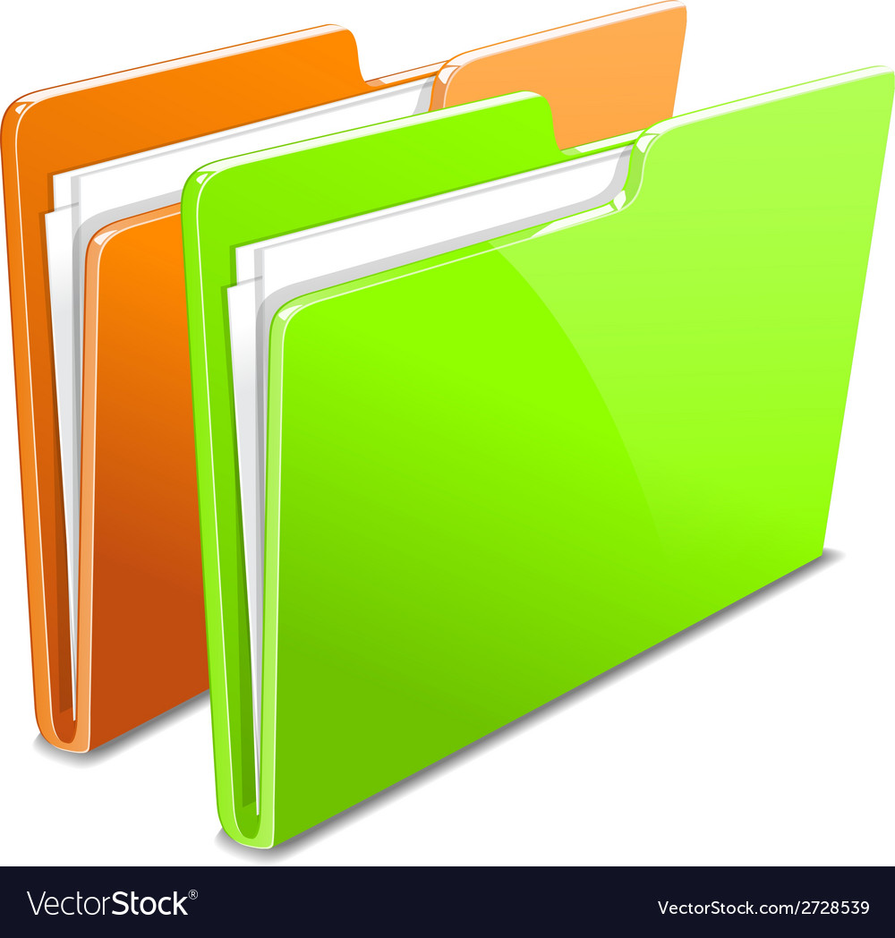 Business case color documents file folder manager vector | Price: 1 Credit (USD $1)