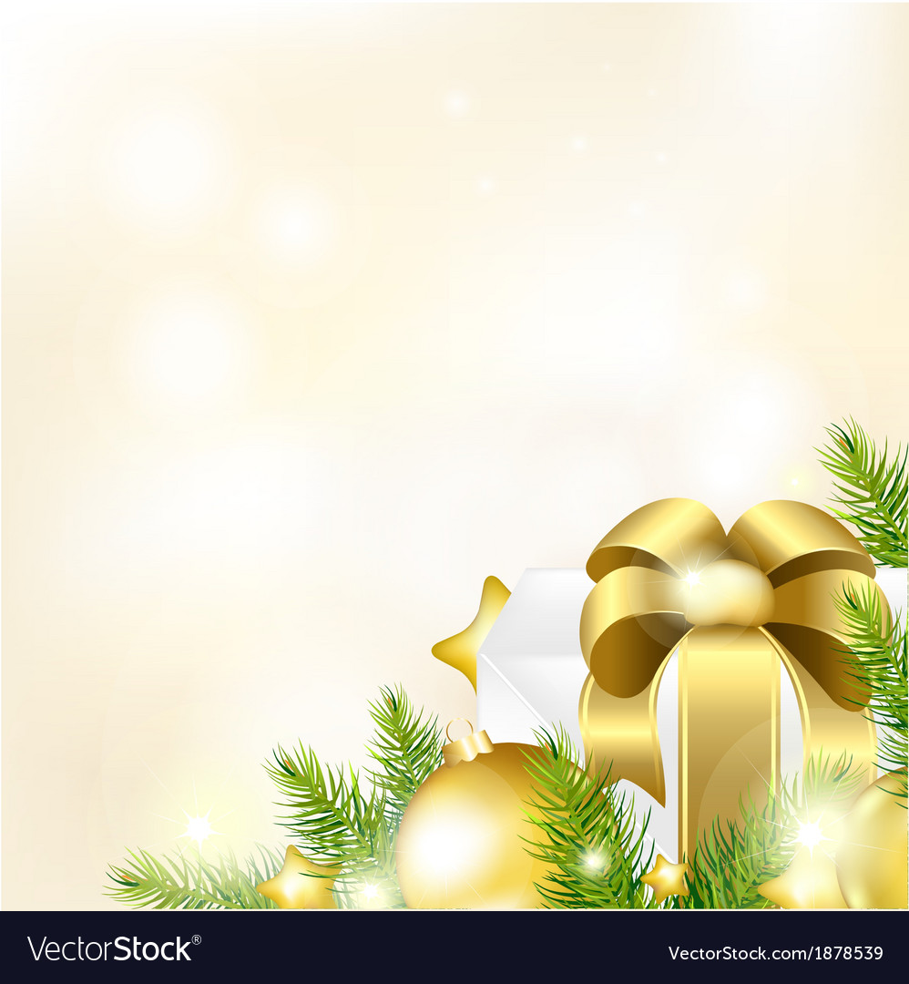 Christmas or new year gold background vector | Price: 1 Credit (USD $1)