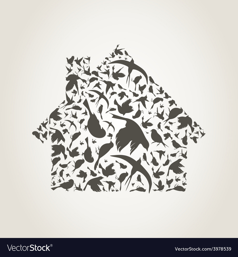 House a bird vector | Price: 1 Credit (USD $1)