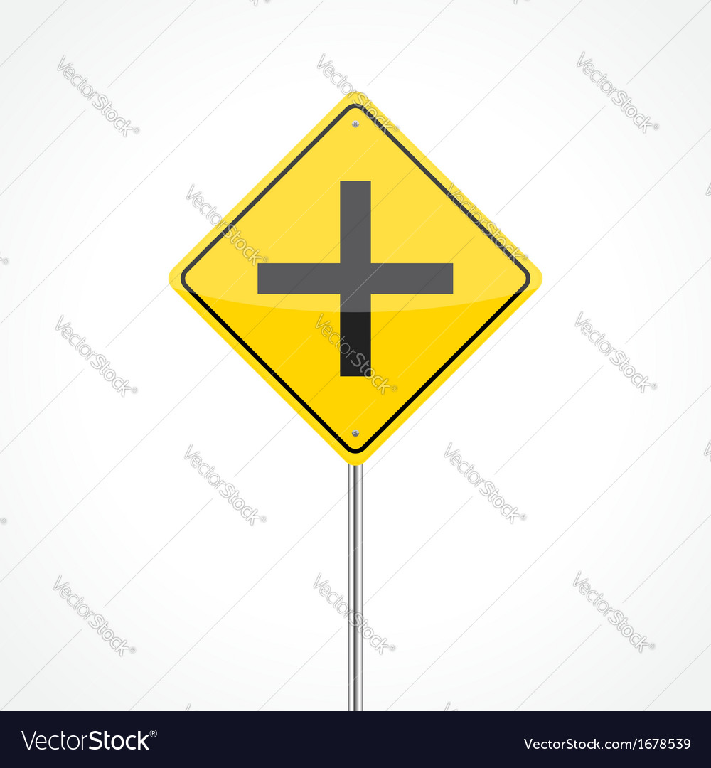 Intersection ahead vector | Price: 1 Credit (USD $1)