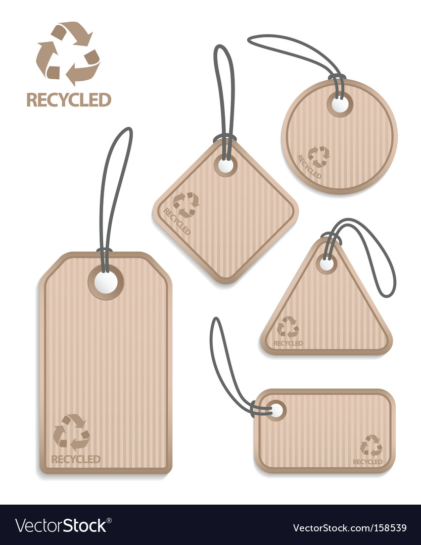 Recycled paper tags vector | Price: 1 Credit (USD $1)