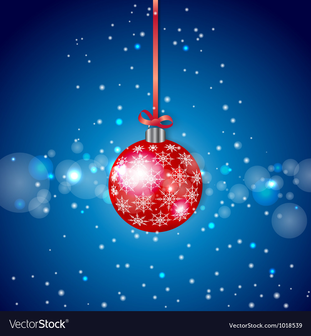 Red sparkling christmas ball vector | Price: 1 Credit (USD $1)