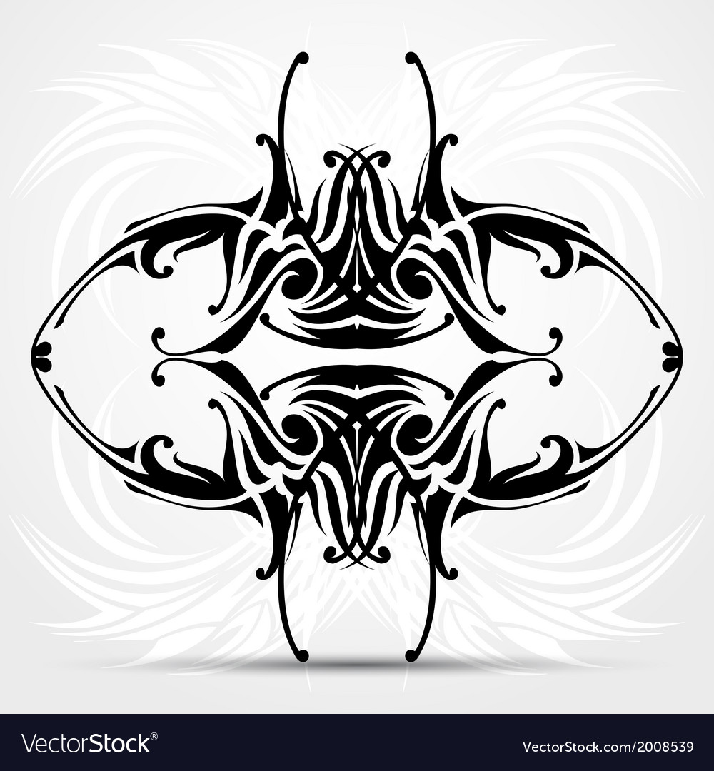 Sharp tribal tattoo vector | Price: 1 Credit (USD $1)