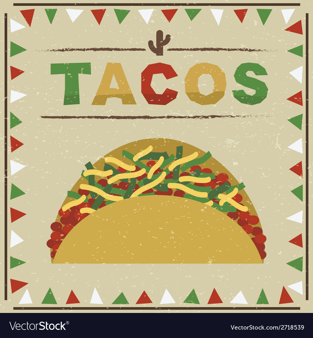 Taco decoration vector | Price: 1 Credit (USD $1)