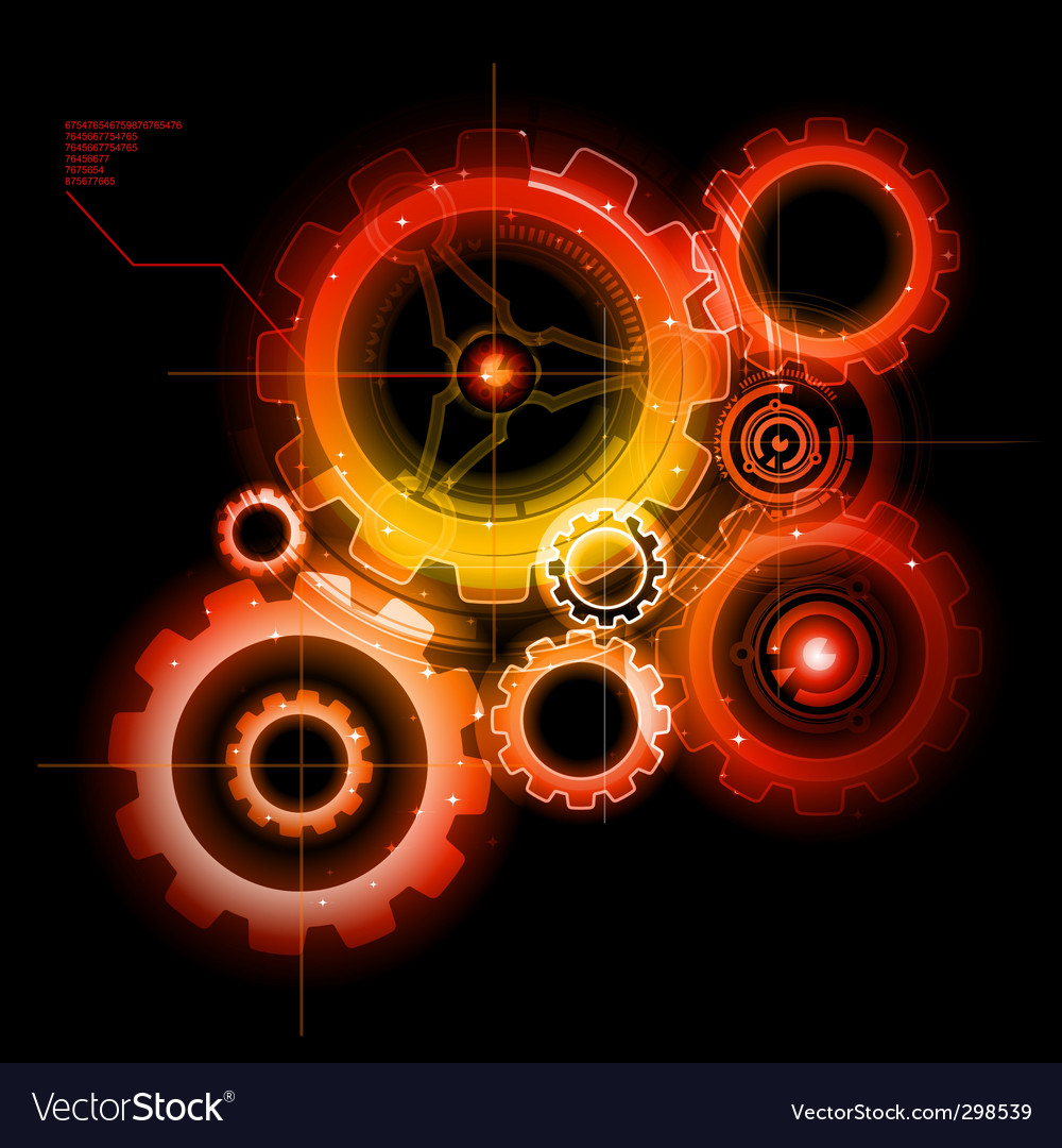 Techno gears vector | Price: 1 Credit (USD $1)