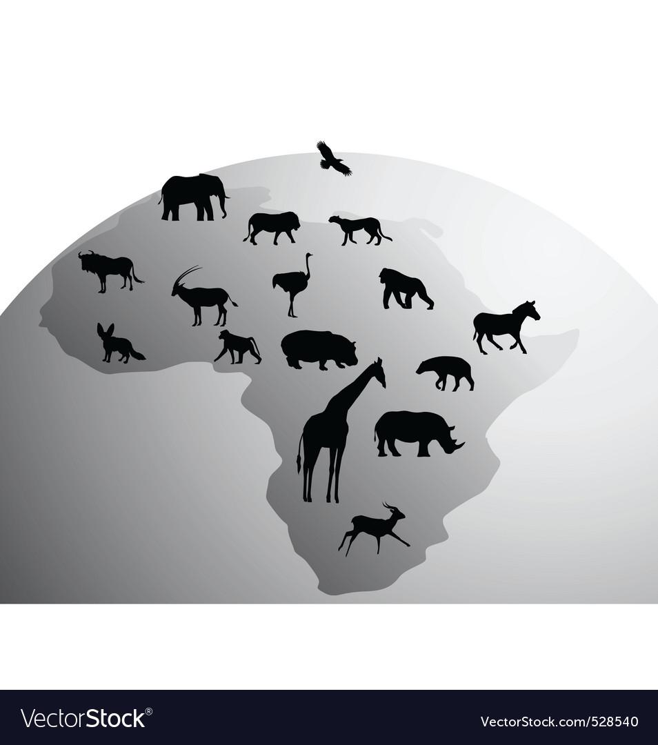 Africa animals vector | Price: 1 Credit (USD $1)