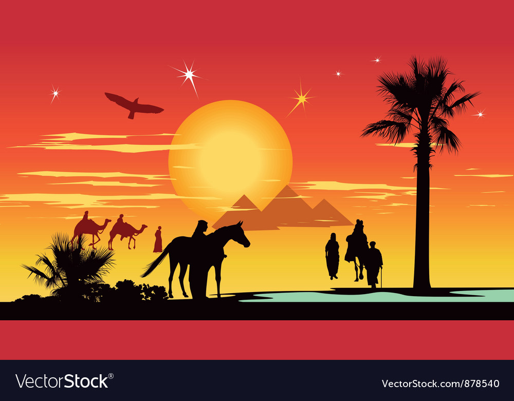 Arabian travelers vector   Price: 1 Credit (USD $1)
