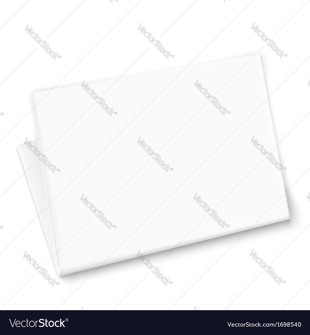 Blank newspaper template vector | Price: 1 Credit (USD $1)