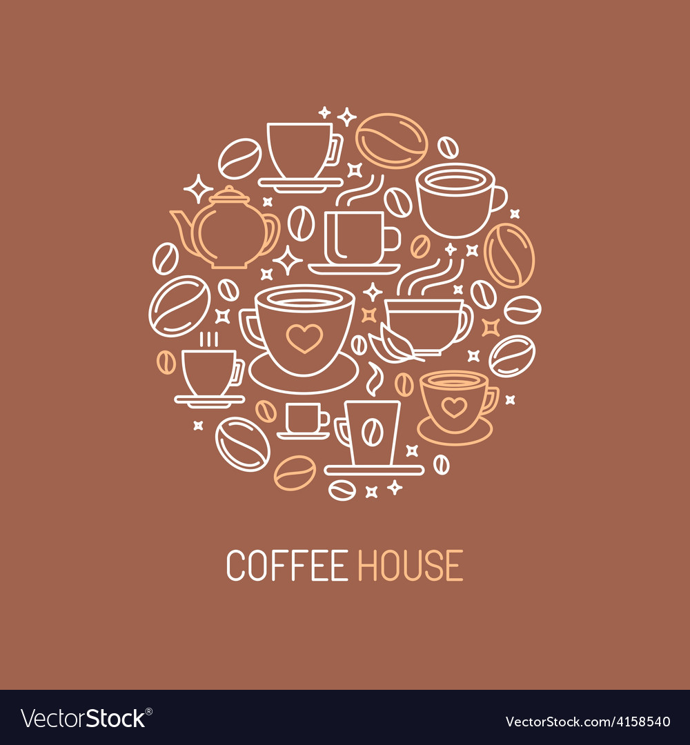 Coffee house logo concept vector | Price: 1 Credit (USD $1)