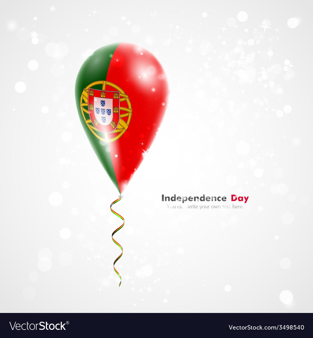 Flag of portugal on balloon vector | Price: 1 Credit (USD $1)