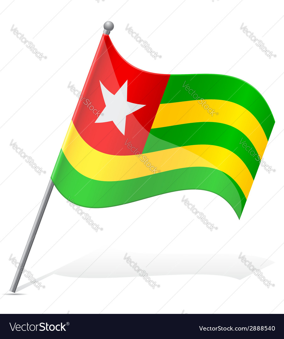 Flag of togo vector | Price: 1 Credit (USD $1)