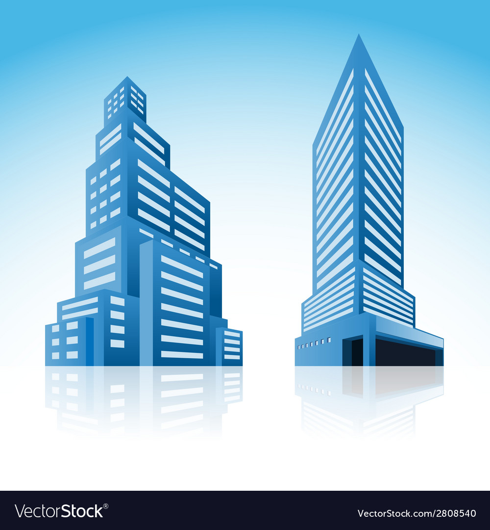 Icons of buildings vector | Price: 1 Credit (USD $1)