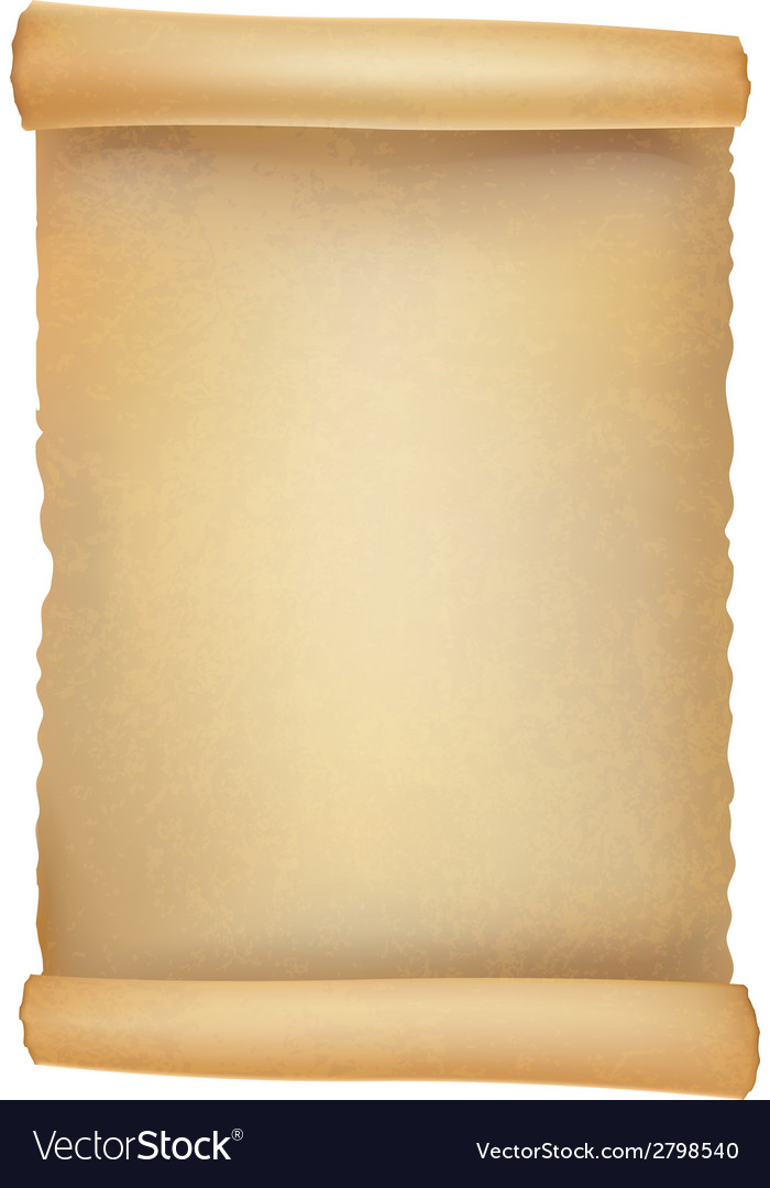 Old scroll realistic vector