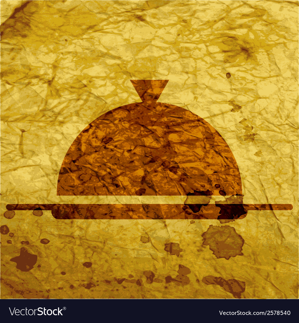 Restaurant cloche flat modern web button and space vector   Price: 1 Credit (USD $1)
