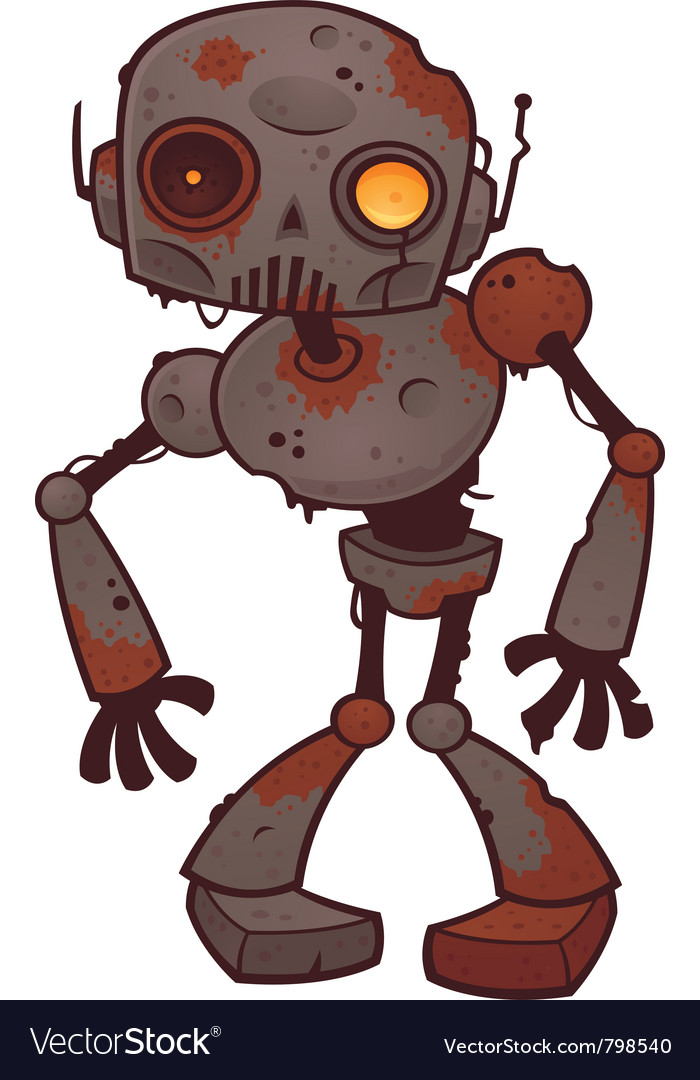Rusty zombie robot vector | Price: 3 Credit (USD $3)