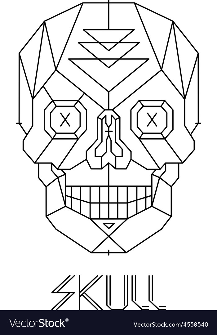 Skull abstract isolated on a white backgrounds vector | Price: 1 Credit (USD $1)
