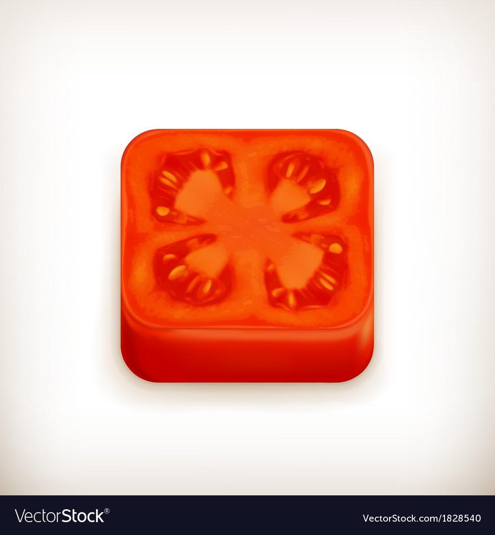 Slice of tomato app icon vector | Price: 1 Credit (USD $1)