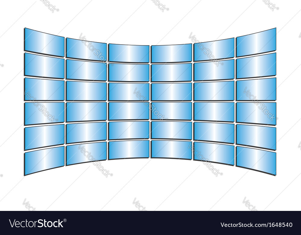 Tv blue monitors with gradients vector | Price: 1 Credit (USD $1)