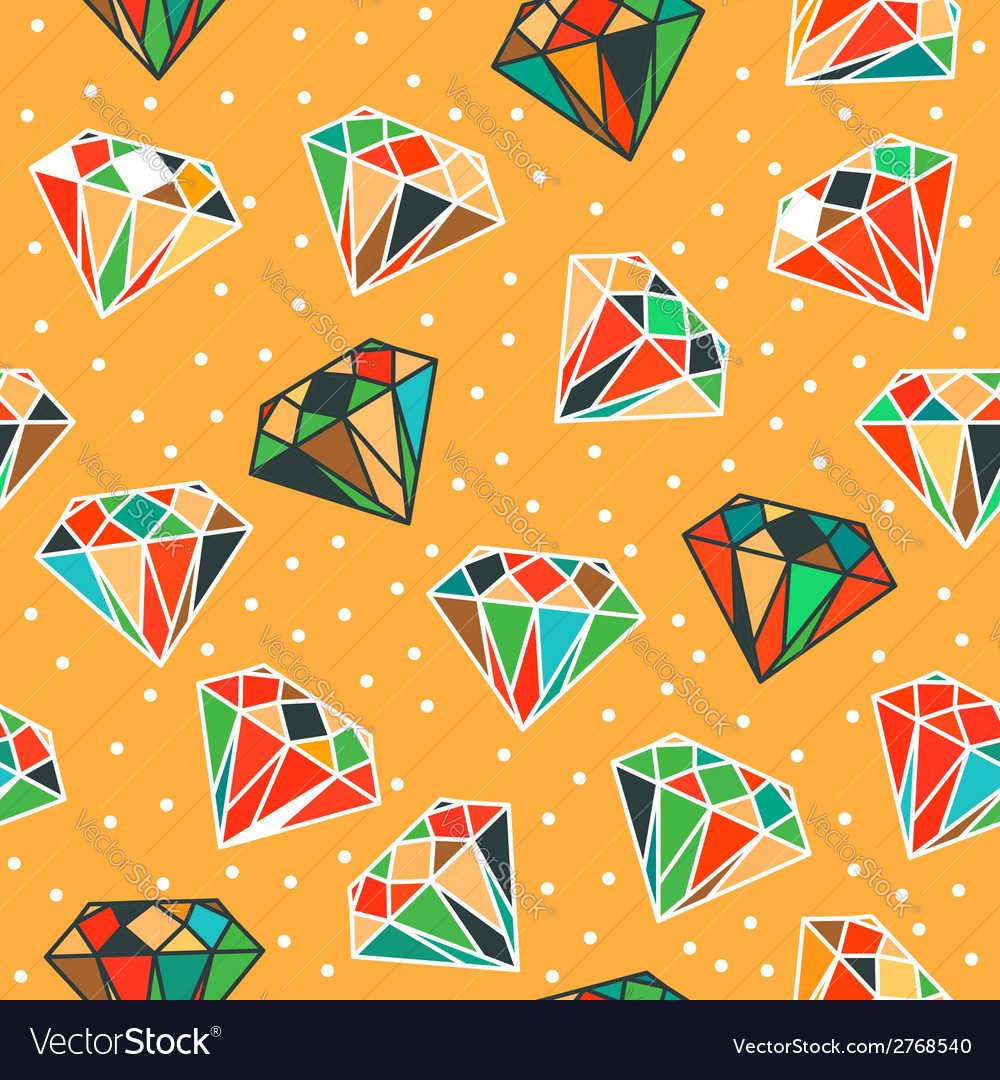 Yellow seamless pattern with diamonds vector | Price: 1 Credit (USD $1)