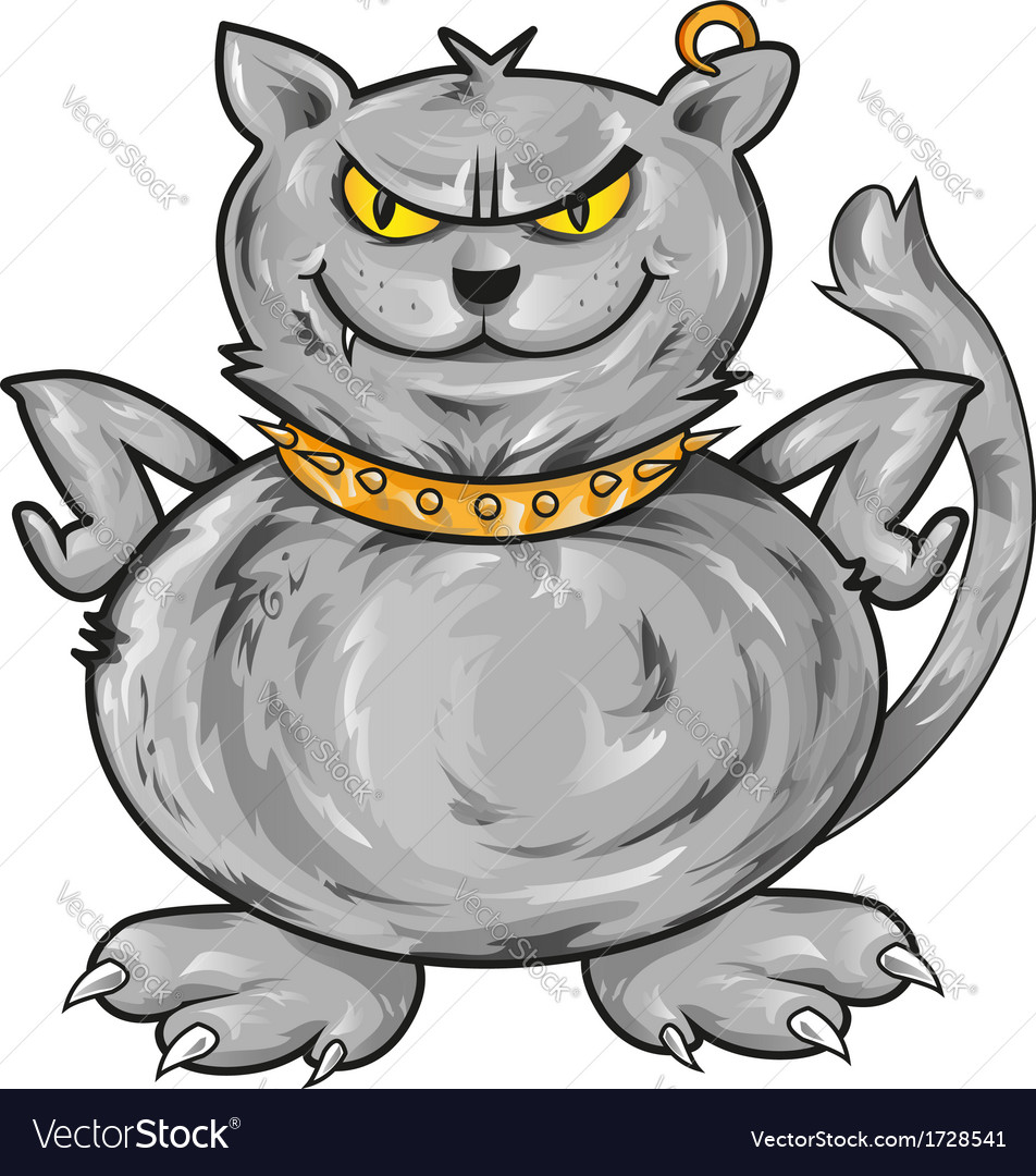 Angry cat vector | Price: 1 Credit (USD $1)