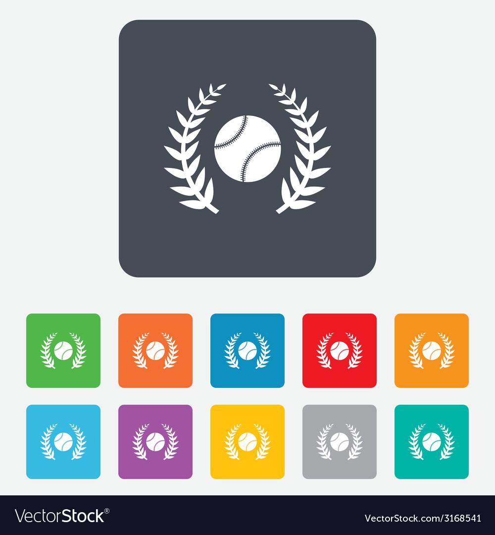 Baseball sign icon sport symbol vector | Price: 1 Credit (USD $1)