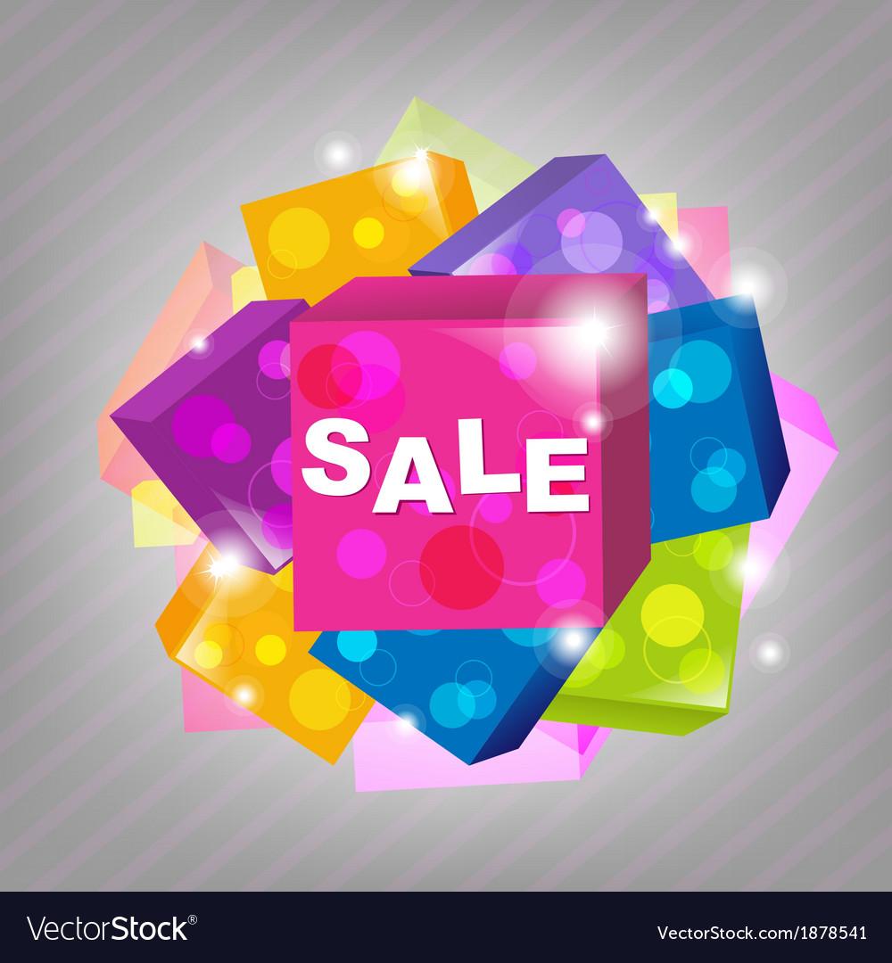 Bright sale poster vector | Price: 1 Credit (USD $1)